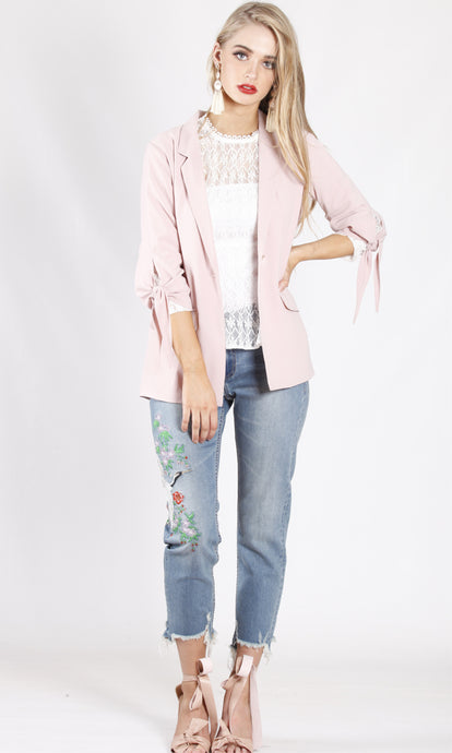 YW1910-2SS Dusty Pink Blazer (Pack) New Arrival