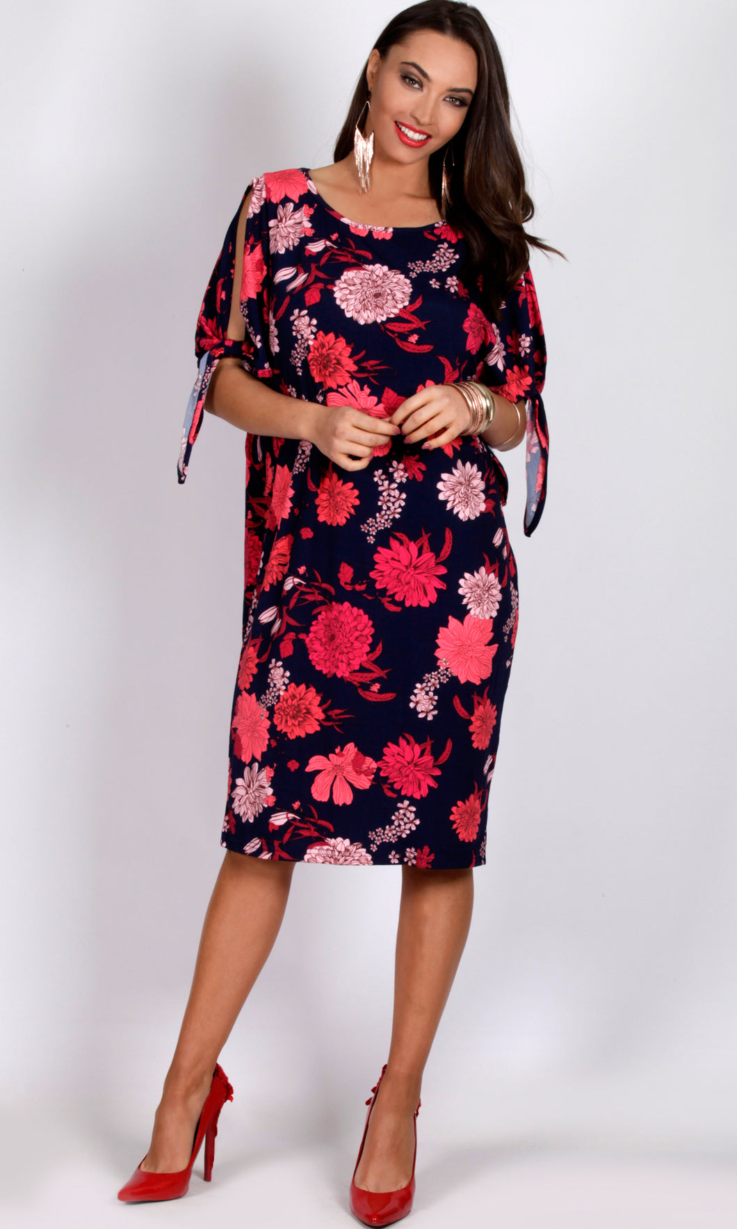 VS7161-1TB  Floral Comfy Dress (Pack)