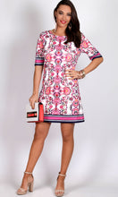VS7244NC 3/4 SLEEVE RETRO SHIFT DRESS (Pack)