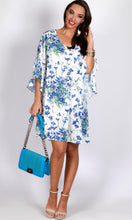RV0998-3TB RELAXED RUFFLE BLUE BLOSSOM DRESS (Pack)