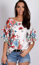 RV0850-3SS Double Ruffle Sleeve Top (Pack)