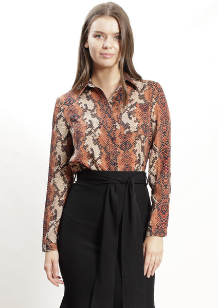 LV816-2SS Snake Skin Printed Top (Pack)
