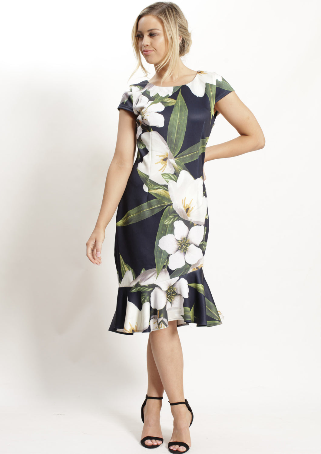 WA0219-3TB Floral Fish Tail Dress (Pack)