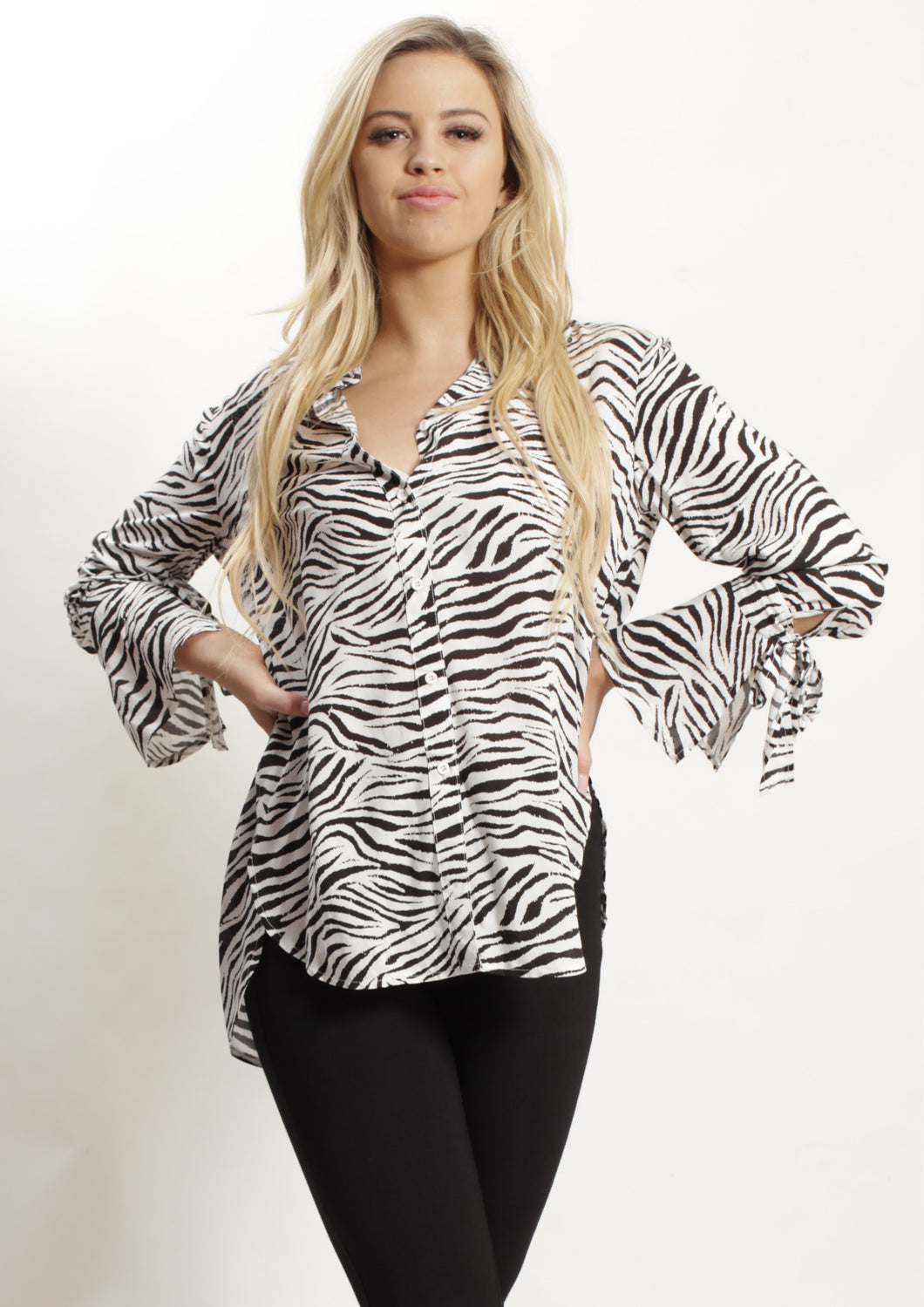 YW1724-3SS Zebra Printed Top (Pack)