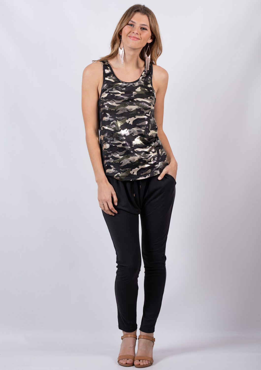 JEN0062SS Camo Sleeveless Top (Pack)