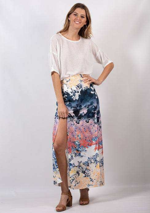 HS16049-14SS Oriental Printed Maxi Skirt (Pack)