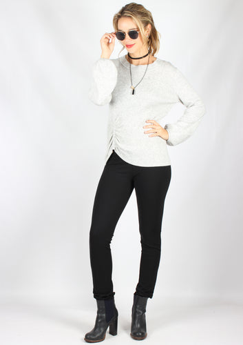 A732BHSS Waist Ruched Grey Jumper (Pack) On Sale