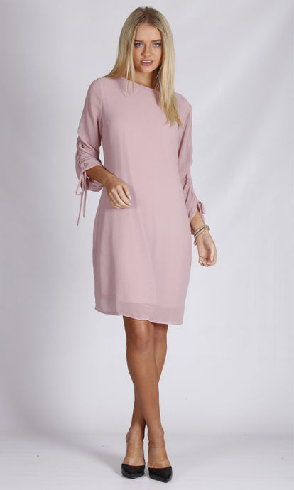 TG2498TB Chiffon Ruched Sleeve Dress  (Pack)