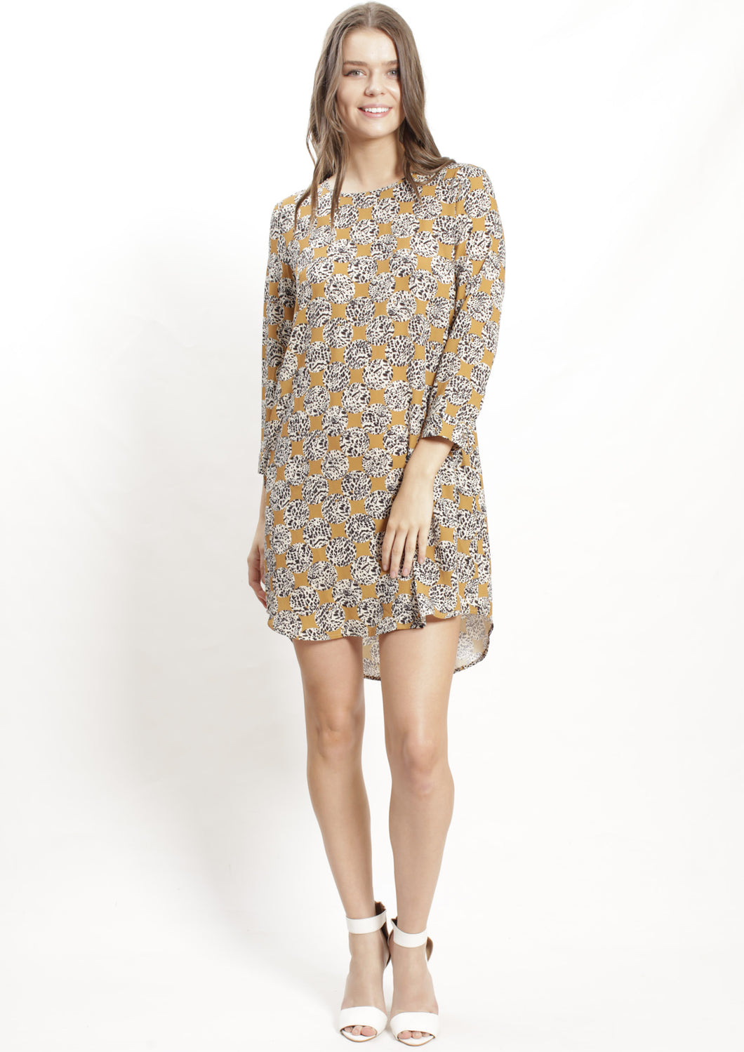 AY102-1SS Printed Shift Dress  (Pack)