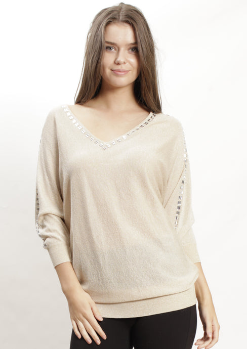 BW20003 Long Sleeve Beaded Top  (Pack) New Arrivals