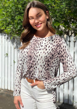 AY234-1SS Long Sleeve Leopard Print Top (Pack) -  SALE