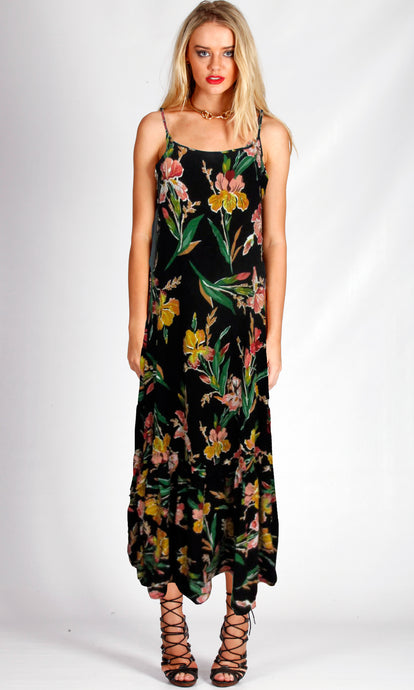 VS028-1SS Black Floral Maxi (Pack)