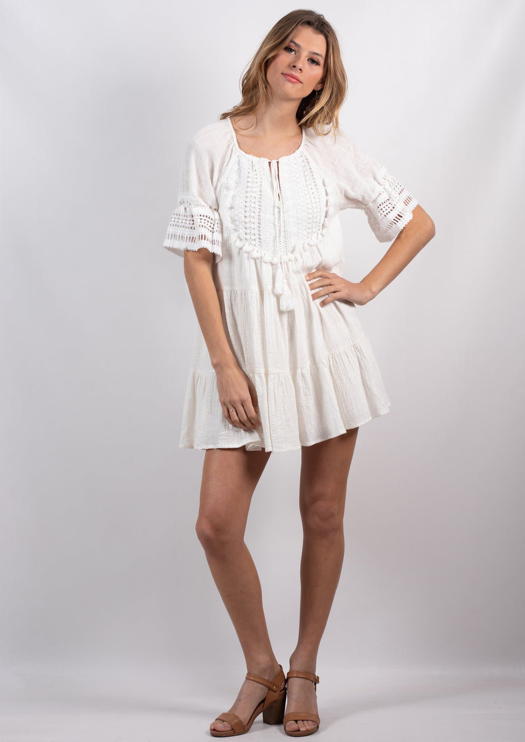 VY00219SS Boho Mini Dress (Pack) New Arrival