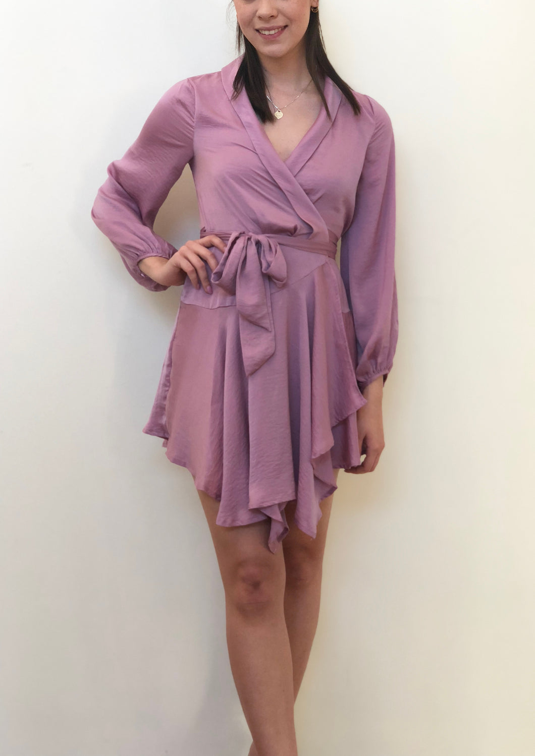 YW17175SS Long Sleeve Wrap Dress(Pack) New Arrival