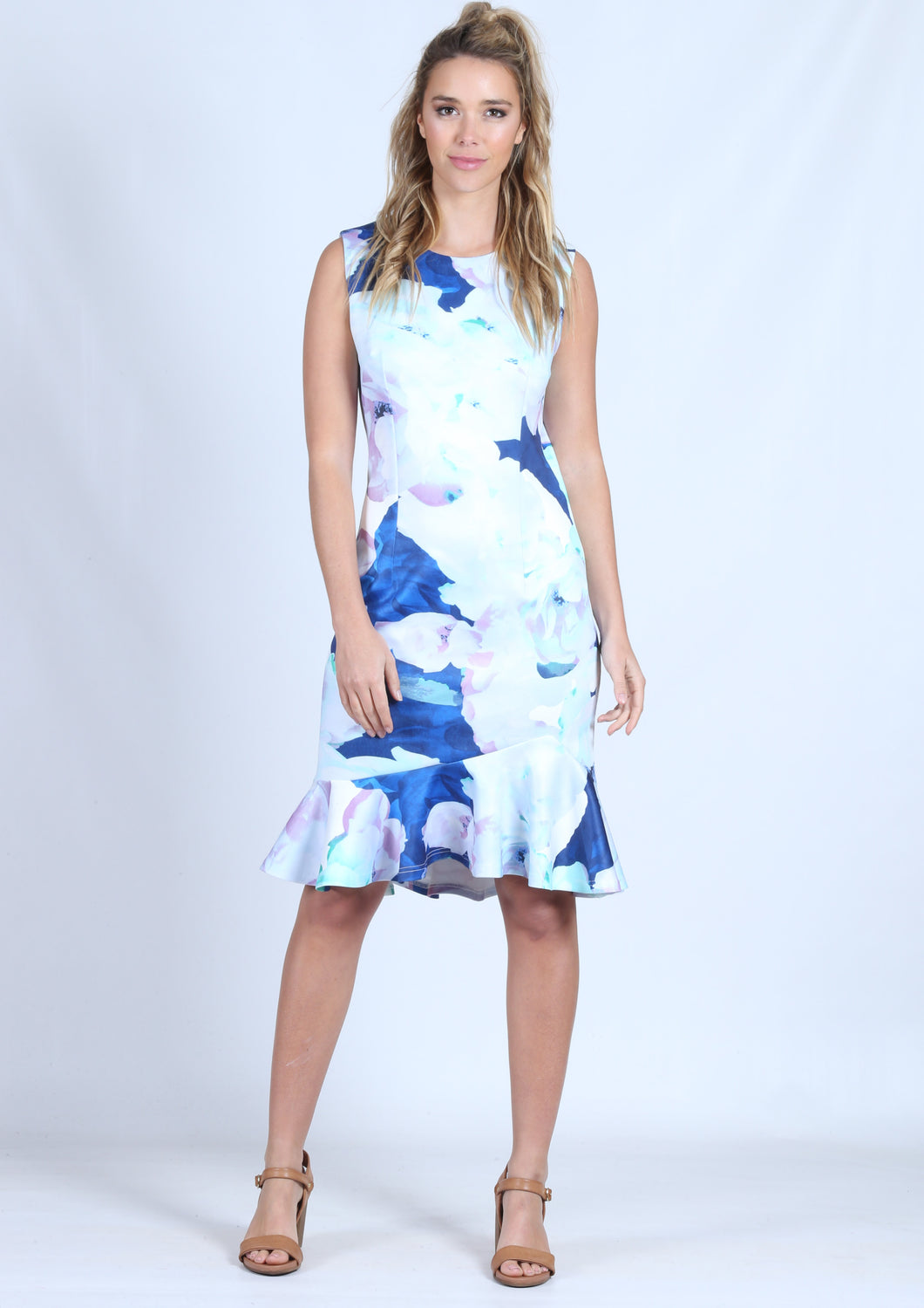 WA0219-1TB Printed Fish Tail Dress (Pack)
