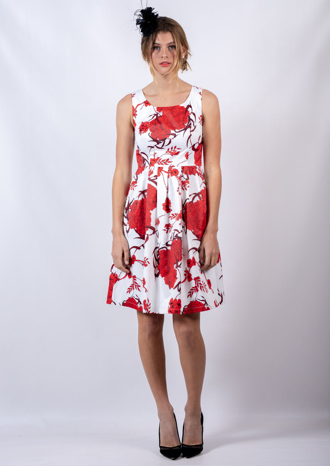 VS0006-24TB Red Floral Flowy Dress (Pack)