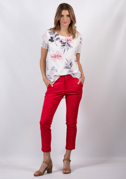 TG2531TB Layered Floral Blouse  (Pack) New Arrival