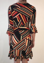 HS0253-14TB Stripe Wrap Front Dress (Pack)