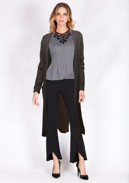 ZWL10896B Longline Cardigan With Pockets (Pack) New Arrival