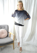 VS7290-2TB Chiffon Split Sleeve Top( Pack)