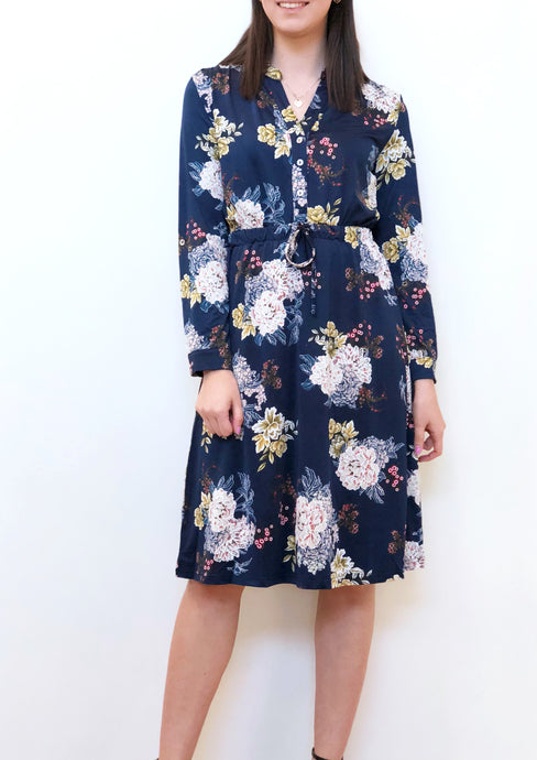 WA0221-2TB Teal Floral Cold Shoulder Midi Dress (Pack) New Arrival