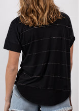 VY00301-1SS Embellished Stripe Tee (Pack)