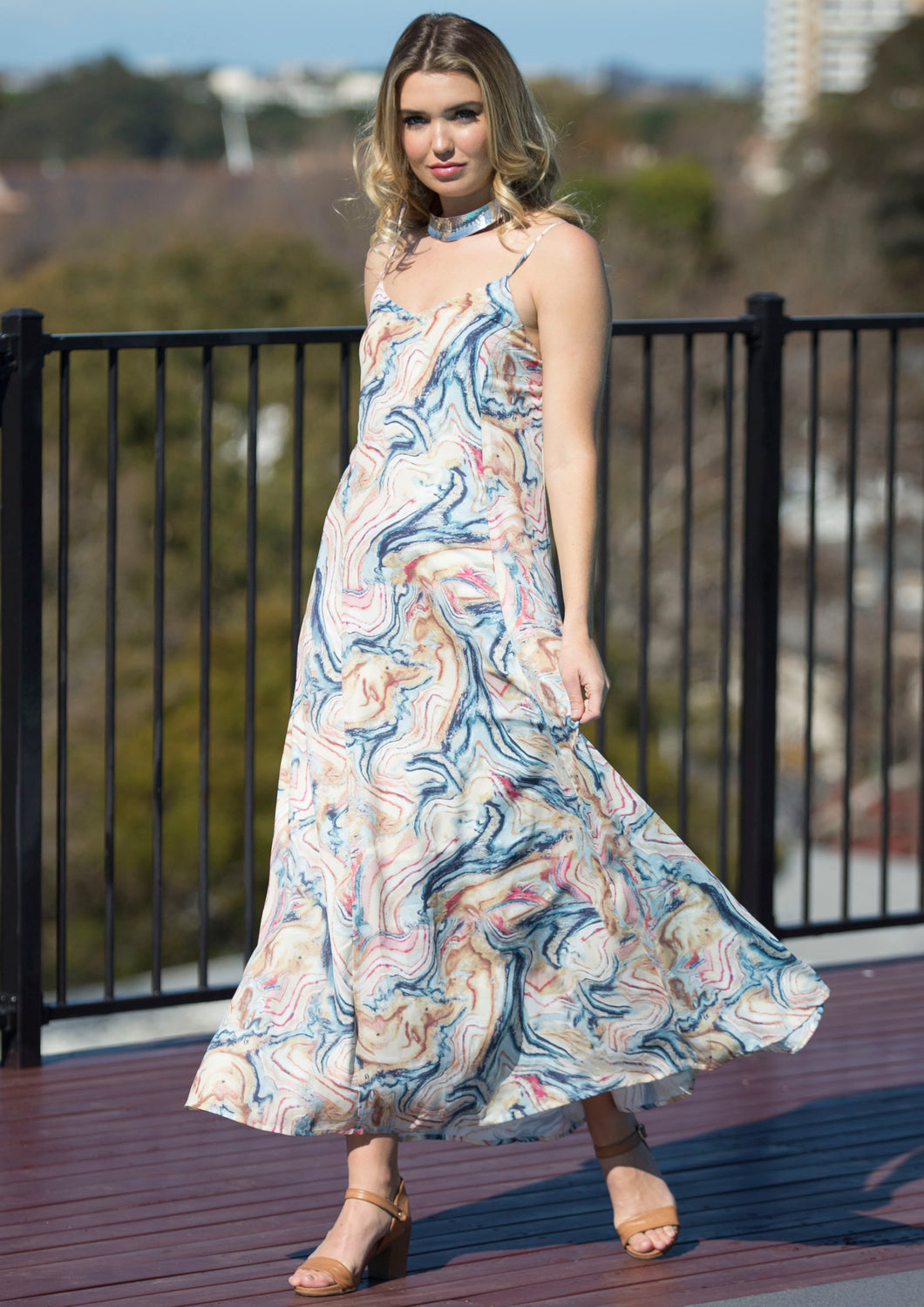 VY0359SS Marbled Maxi Dress (Pack)