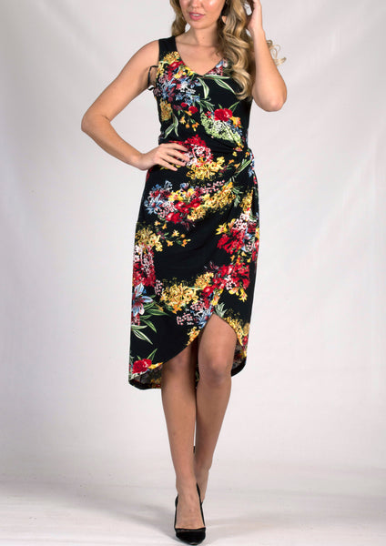 AS0084-41TB Floral Layered Dress (Pack) New Arrival