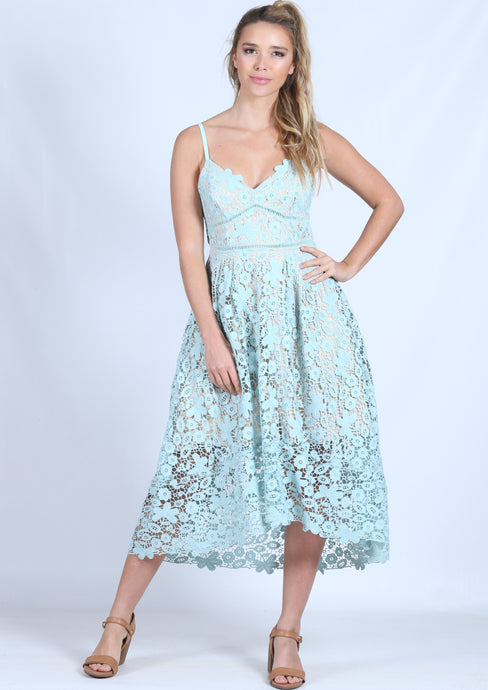 G012SS Lace Styled Mid Length Dress (Pack) New Arrival