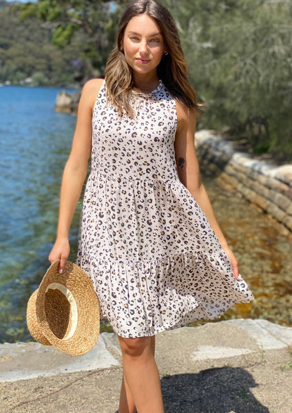 LA0786SS Leopard Sleeveless Tunic Dress (Pack)
