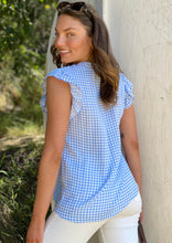 LA0399-1SS Gingham Top (Pack) New Arrival