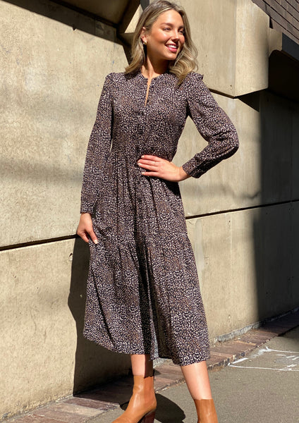 LA0624TB Speckled Button Up Maxi Dress (Pack) New Arrival