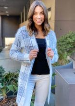 LY210B Checks Print Long Cardigan (Pack)