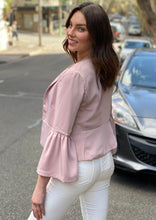 YW1803SS Pink Bell Sleeve Cropped Jacket (Pack)