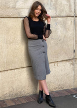 YW2095SS Check Wrap Front Skirt (Pack) New Arrivals
