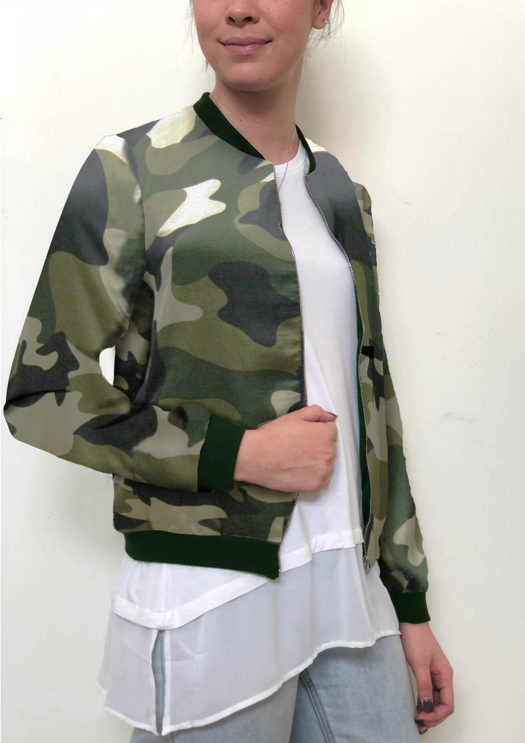 WV036-8SS Camo Bomber Jacket(Pack)