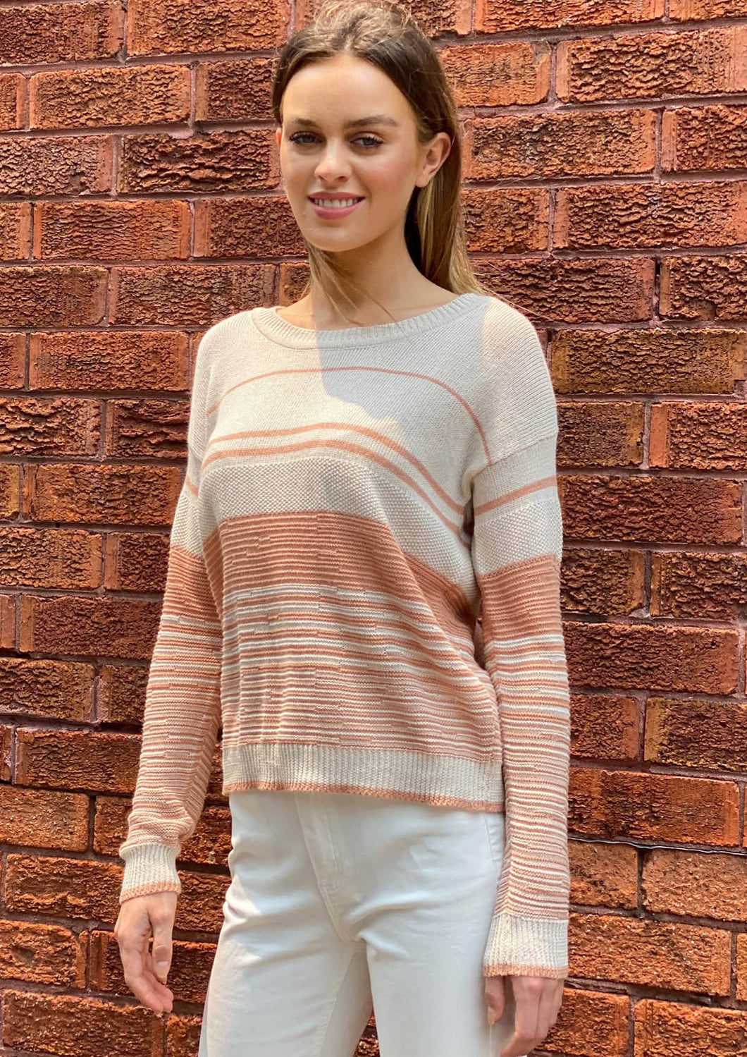 XC-D137SS Stripe Knit Top (Pack)