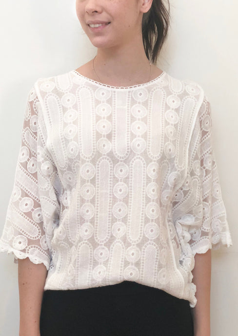 XX009SS Embroidered Crochet Top (Pack) New Arrival