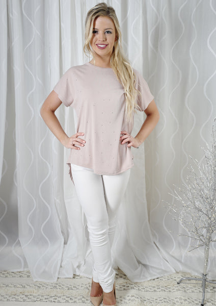 YW00301-2SS Embellished Round Hem Tee (Pack)