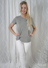 YW12356SS Side Knot V-Neck T-Shirt  (Pack)
