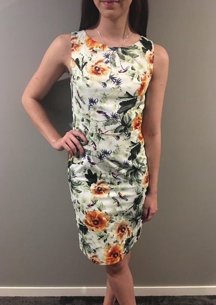 TG2442-2TB Floral Mid Length Dress (Pack) New Arrival