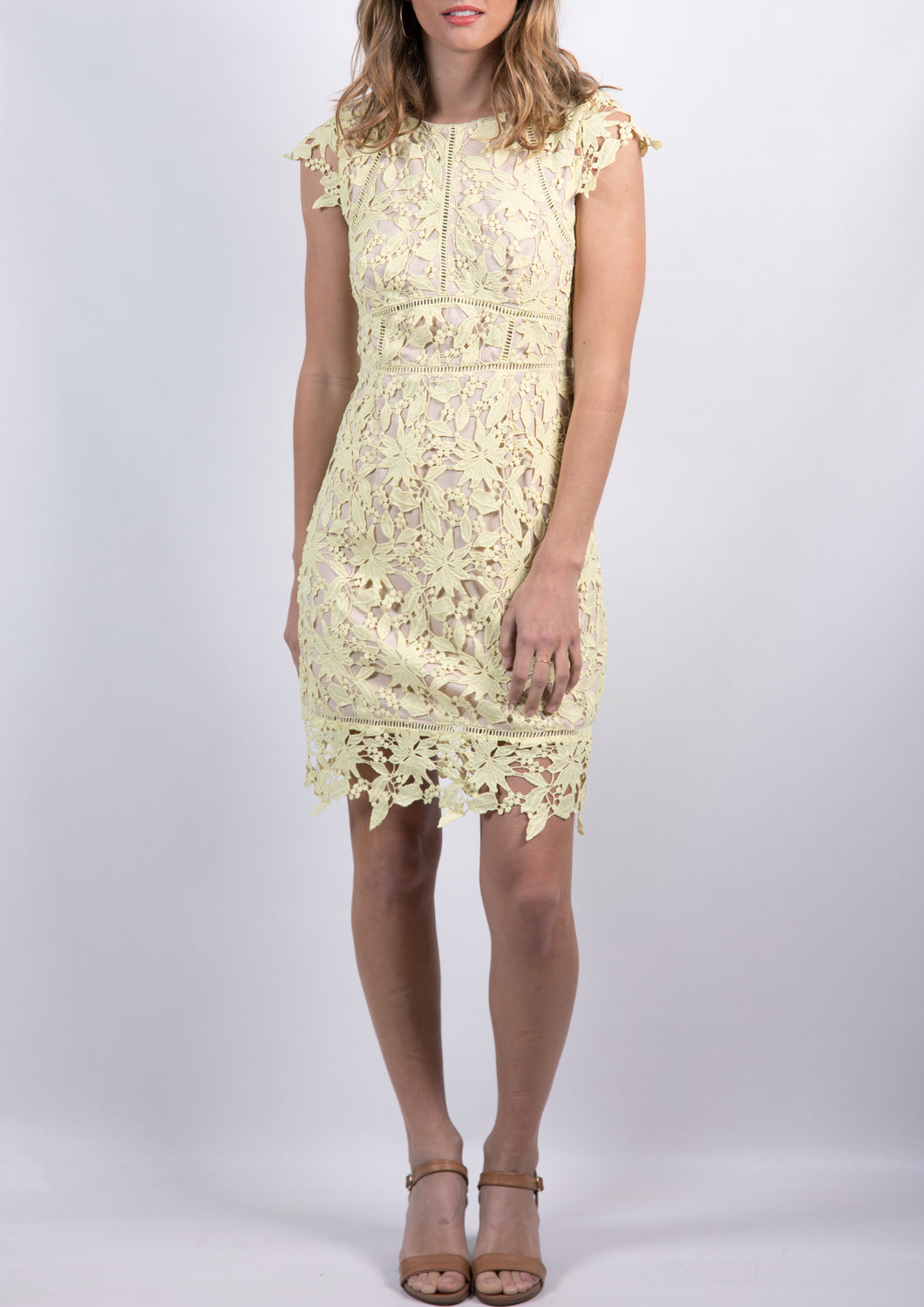 G011TB Capped Sleeve Lace Dress (Pack)