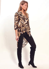 YW2336-7SS Animal Print High Low Top (Pack)