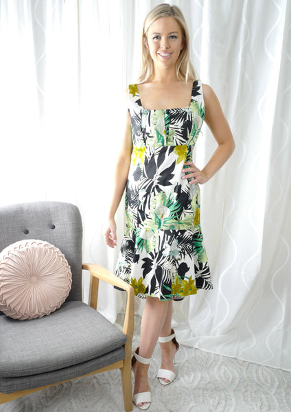 WA2109-3NC Topical Print Dress (Pack) New Arrival