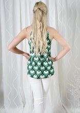 YW2357SS Green Print Halter Top (Pack) New Arrivals
