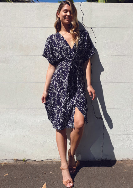 ZW16445TB Navy Floral Dress (Pack) New Arrival