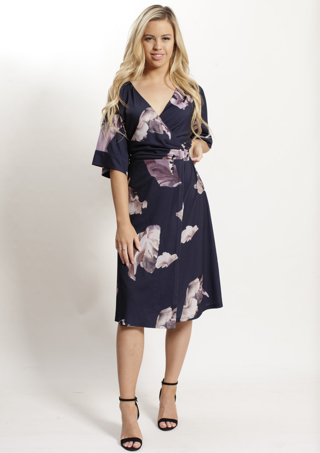 TG2503-8TB Floral Wrap Dress (Pack)
