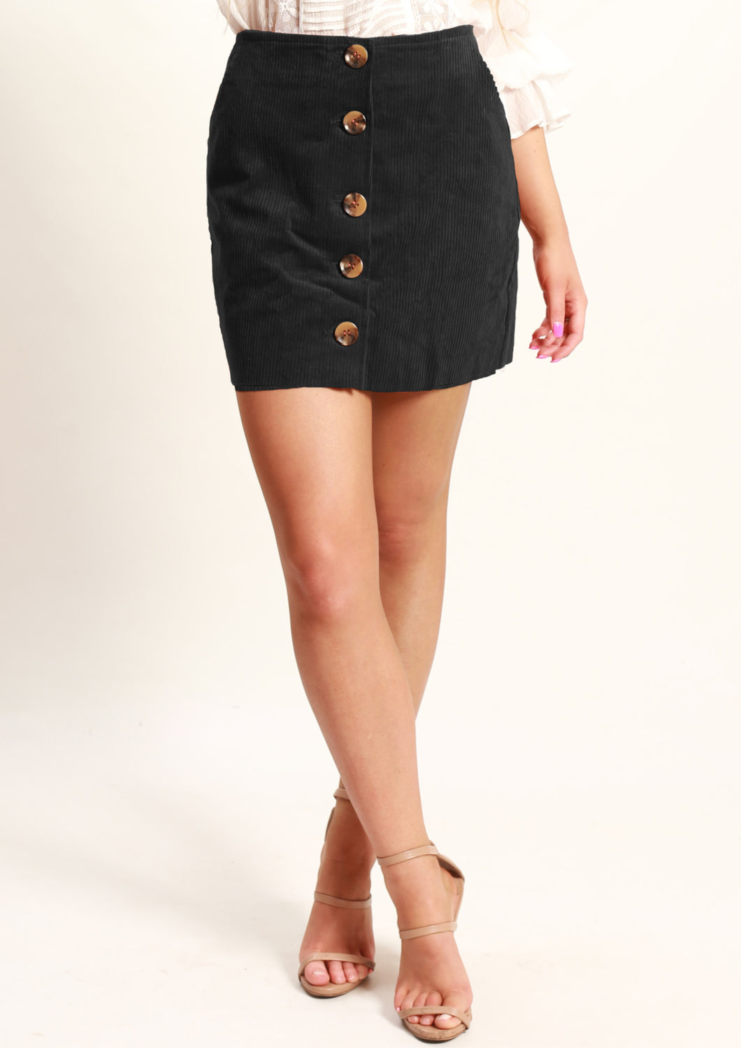 AY184SS Button Front Skirt (Pack)