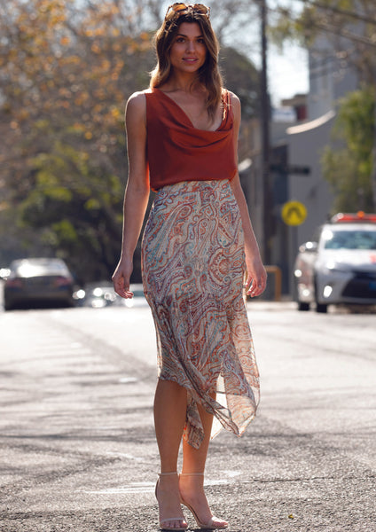 XW20223SS Paisley Print Skirt (Pack) New Arrivals