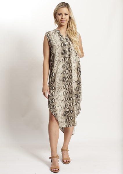 YW2336-3SS Snake Skin Print Tunic (Pack) New Arrivals